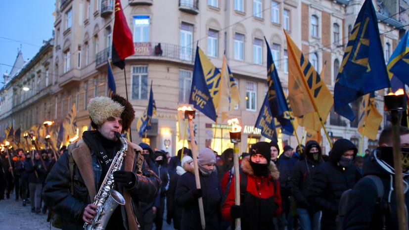 В Киеве несколько тысяч человек вышли на марш националистов