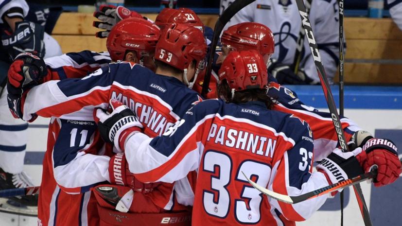 ЦСКА разгромил «Амур» в матче регулярного чемпионата КХЛ