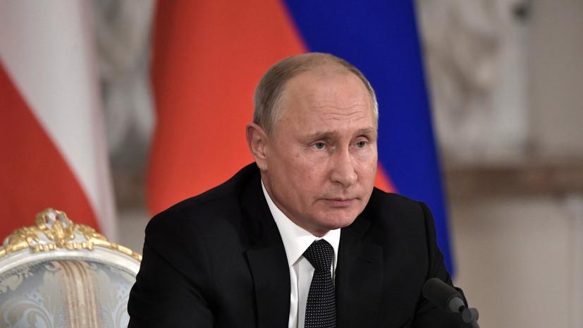 Путин поручил подписать договор о стратегическом сотрудничестве с Египтом