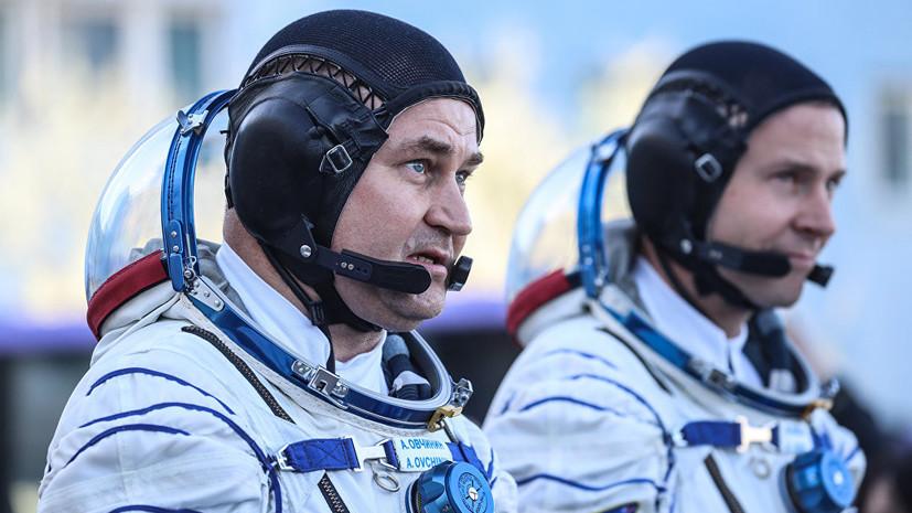 Космонавт Овчинин сравнил перегрузку с бетонным блоком на груди