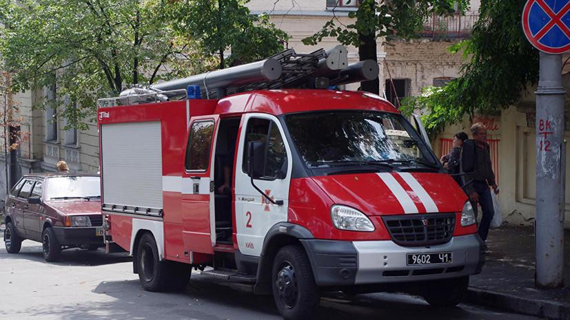 В здании украинского телеканала произошёл пожар