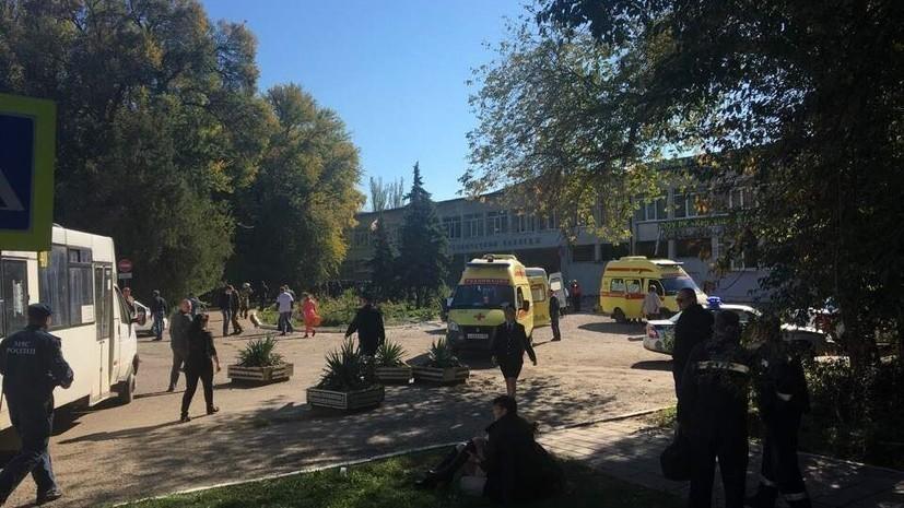 Опубликовано видео осмотра места ЧП в керченском колледже