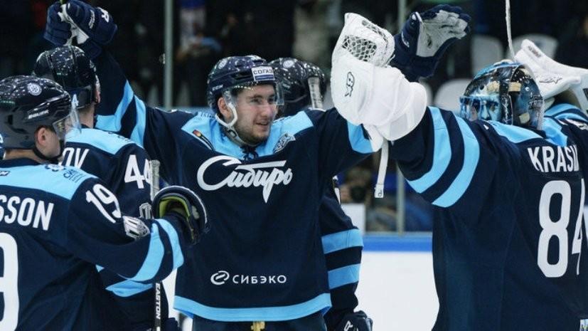 «Сибирь» разгромила минское «Динамо» в матче регулярного чемпионата КХЛ