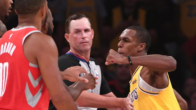 Звёзды НБА Крис Пол и Рэджон Рондо подрались в матче регулярного чемпионата