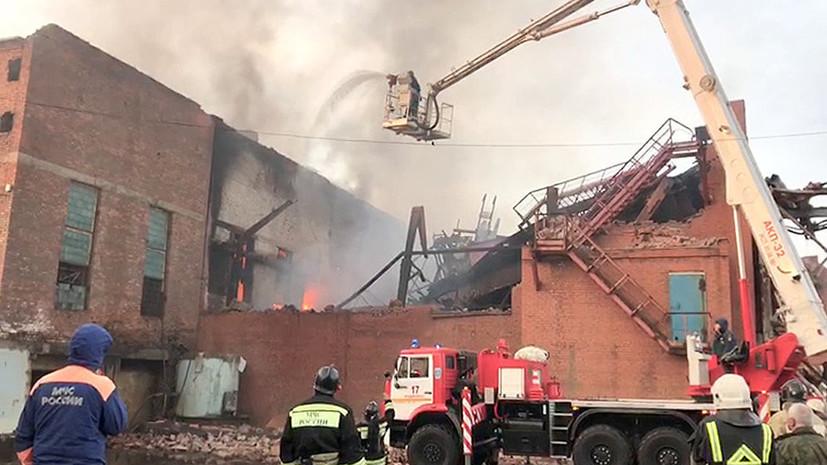 Пожар на заводе «Электроцинк» во Владикавказе потушен