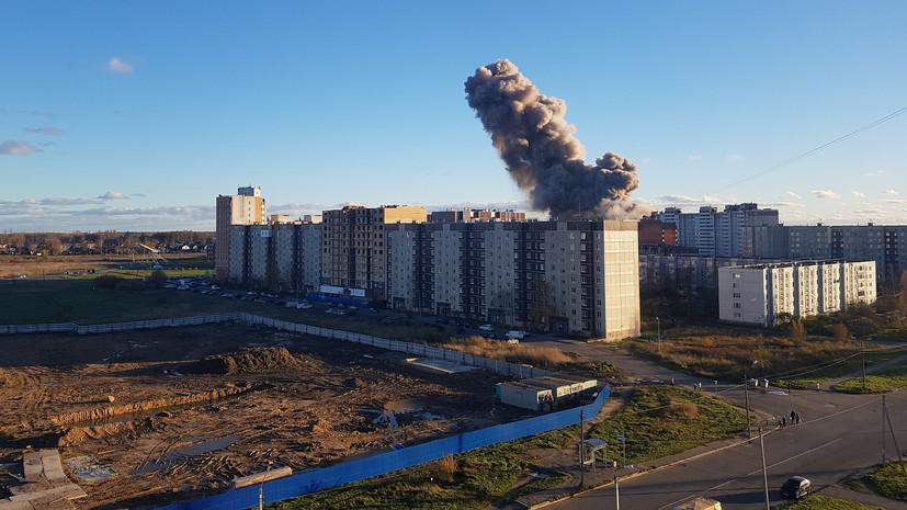 Из-за взрыва на заводе в Гатчине повреждены 16 домов