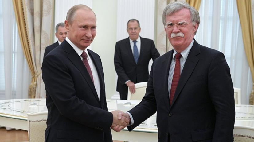 Песков заявил, что встреча Болтона и Путина состоится 23 октября