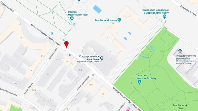 Google Maps добавил в название Верховной рады слово «измена»