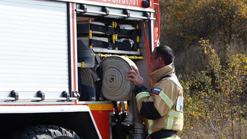 Пожар на рынке «Хитрый» в Астраханской области локализовали