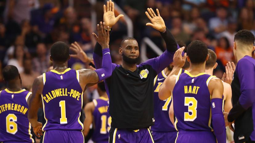 «Лейкерс» одержали первую победу при Леброне Джеймсе в НБА, обыграв «Финикс»