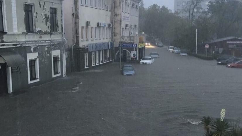 В Краснодарском крае в результате проливных дождей погибли два человека