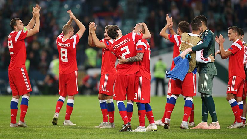 Какое место занимает сборная России по футболу в рейтинге ФИФА 2019