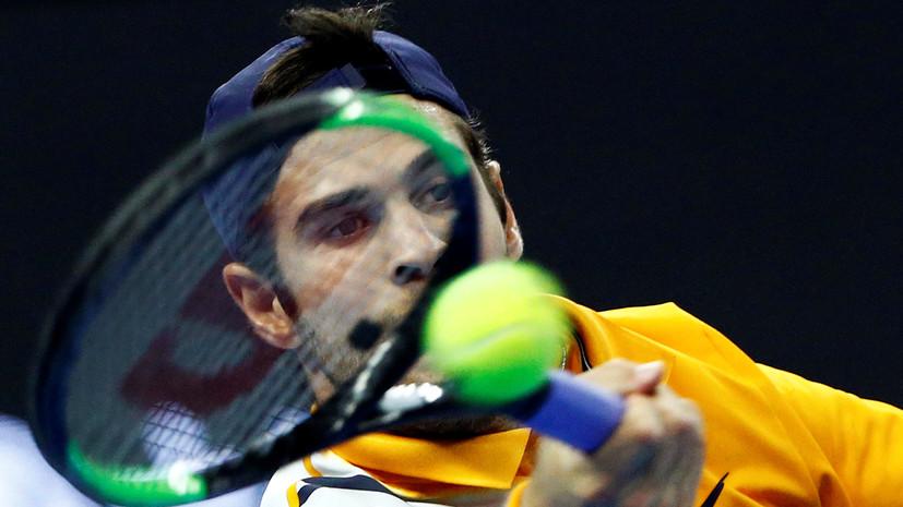 Хачанов проиграл Нисикори во втором круге турнира ATP в Вене