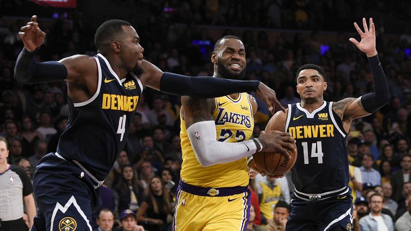 Трипл-дабл Джеймса обеспечил «Лейкерс» вторую победу подряд в НБА