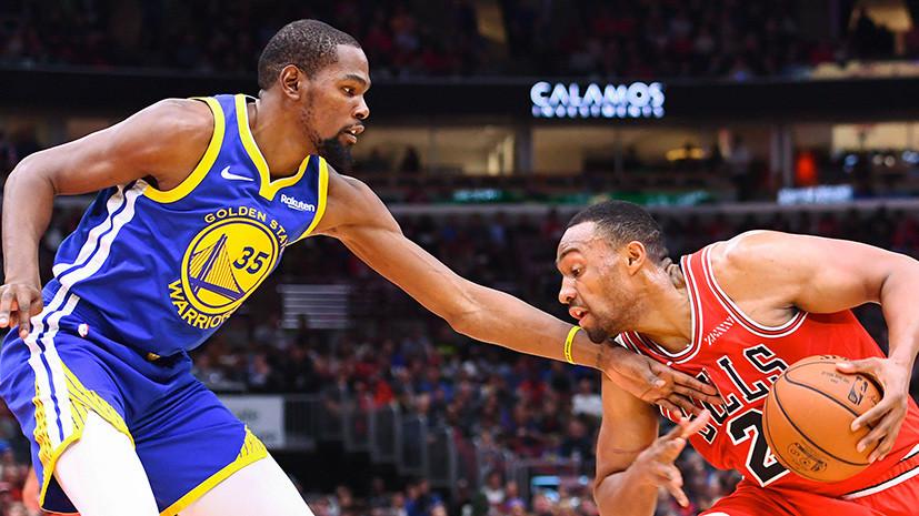 «Голден Стэйт» обыграл «Чикаго» в матче НБА, Томпсон реализовал рекордные 14 трёхочковых бросков