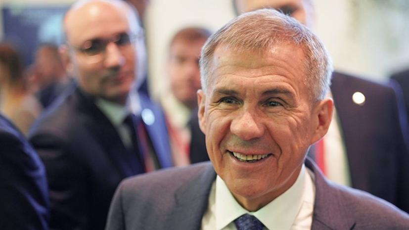 Президент Татарстана встретился с министром экономики ОАЭ