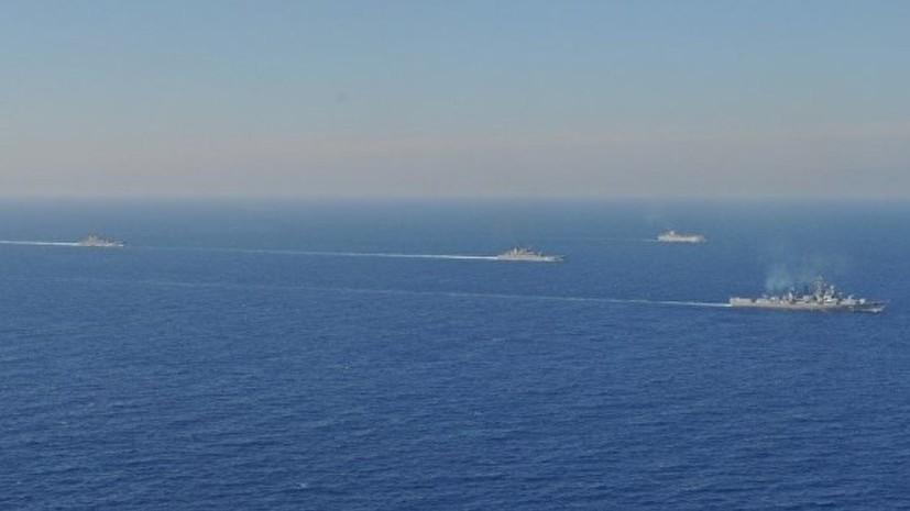Корабли ЧФ провели учения по отражению атаки с воздуха