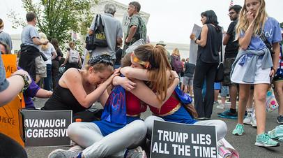 В ходе протестов против судьи Кавано у вашингтонского Капитолия были задержаны около 300 человек, в основном — феминистки