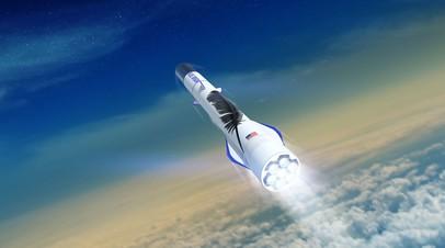 Концептуальный эскиз ракеты New Glenn, которую будет разрабатывать компания Blue Origin интернет-магната Джеффа Безоса