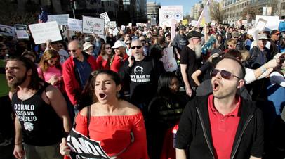 Протест против Дональда Трампа