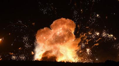 Взрывы на складе военных боеприпасов в Винницкой области Украины