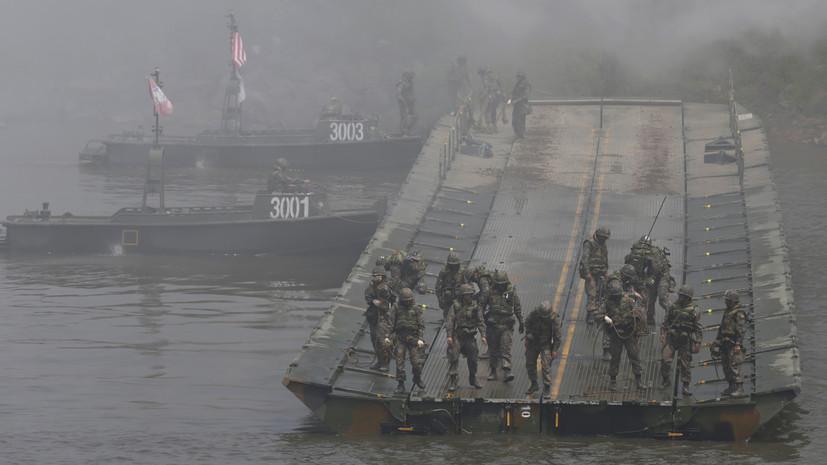 Южная Корея и США начали совместные морские учения