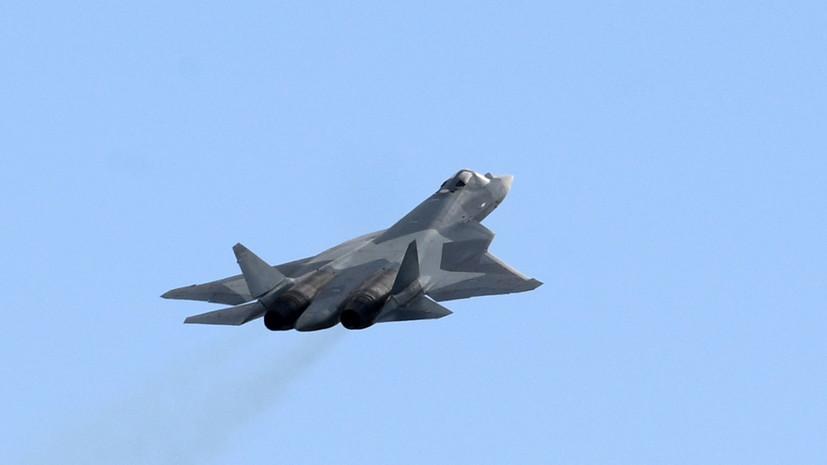В сети появилось уникальное видео полёта новейшего Су-57