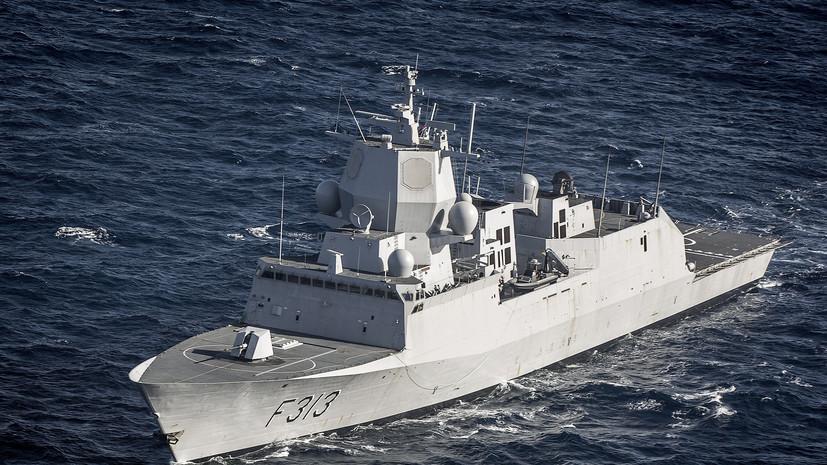 У берегов Норвегии столкнулись танкер и фрегат