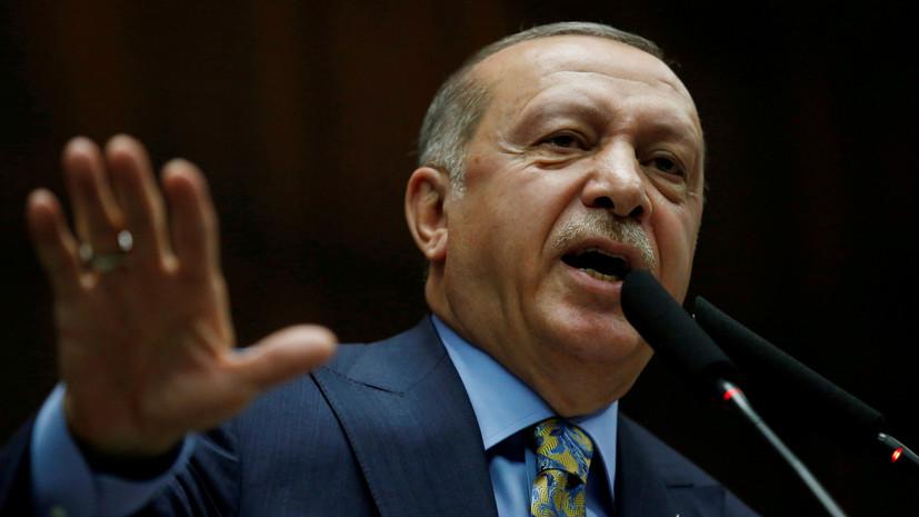 Эрдоган сообщил о гибели четырёхсолдатпри взрыве на военной базе в Турции