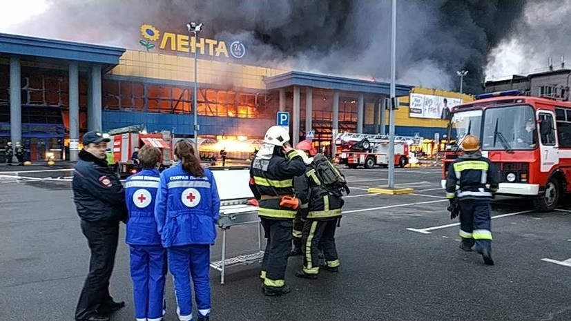 The source called the possible cause of the fire in a hypermarket in