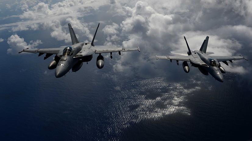 В Японии потерпел крушение военный самолёт США F/A-18