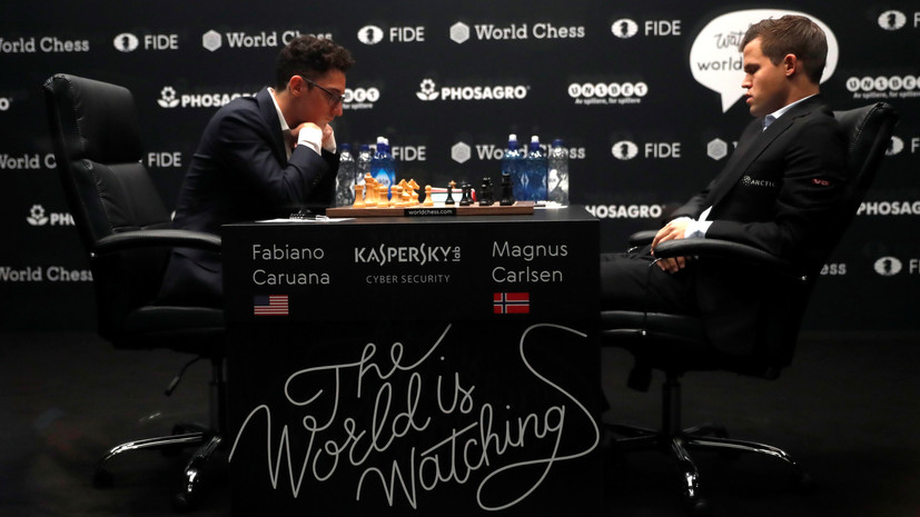 Carlsen and Caruan have brought to the draw a fourth match of the match for the title of world champion in chess