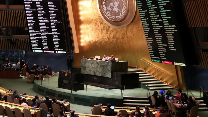 Впредставительстве международной организации ООН приняли украинскую резолюцию поКрыму