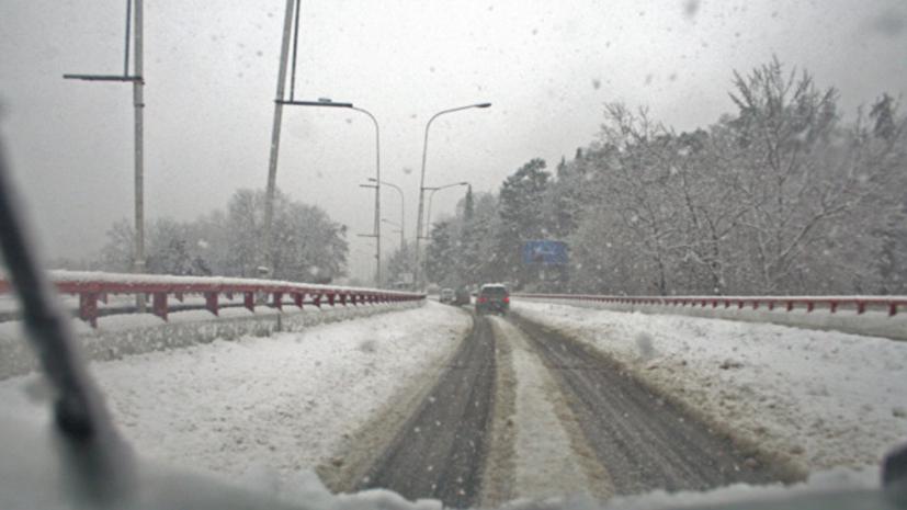 В Ростовской области ограничили движение на ряде трасс из-за снегопада