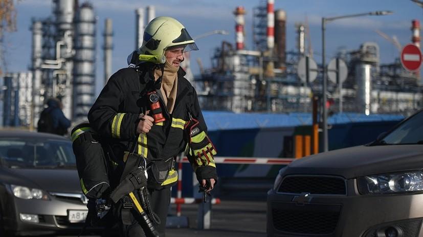В Минэнерго назвали причину пожара на НПЗ в Москве