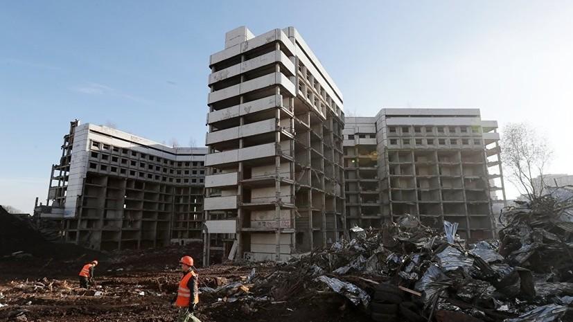 В Москве полностью снесли Ховринскую больницу