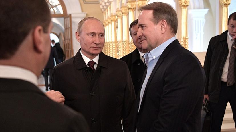 Песков поведал овзаимодействии В.Путина сВиктором Медведчуком