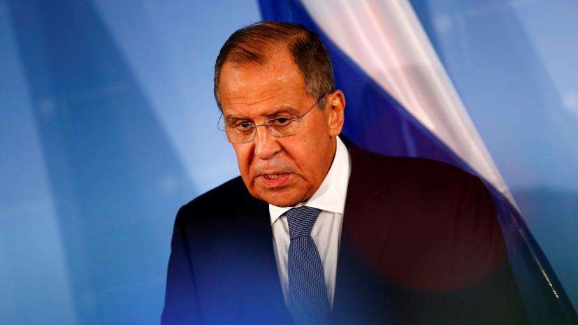 Лавров заявил, что Россия не поддерживает какую-либо политическую фигуру в Сирии