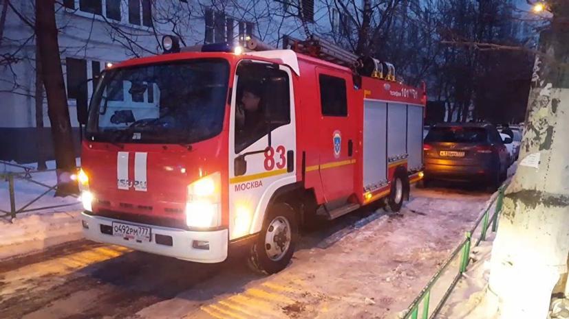 В результате пожара на складе в Москве погибли два человека