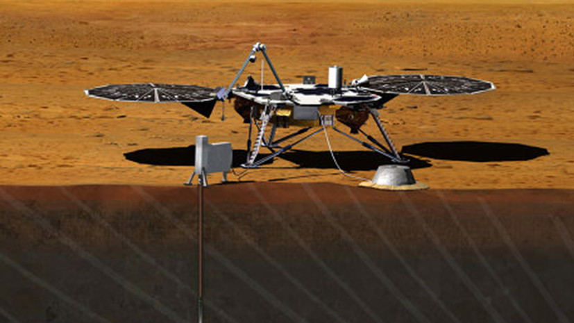 Аппарат Mars InSight совершил посадку на Марсе
