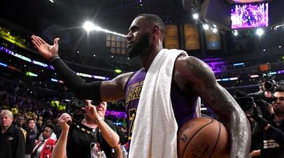 Леброн Джеймс вышел на пятое место по результативности в истории НБА