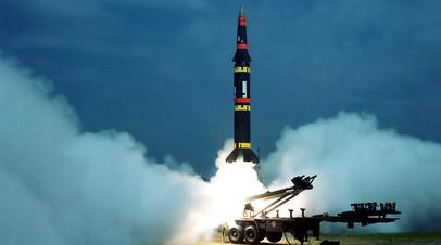 Запуск американской ракеты «Першинг—2»
