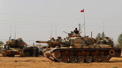 Турецкая армия на границе с Сирией