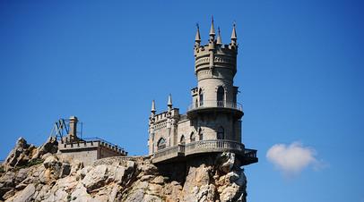Памятник архитектуры «Ласточкино гнездо» на Аврориной скале мыса Ай-Тодор в Ялтинском районе Крыма