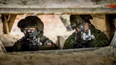 Польские военнослужащие на учениях