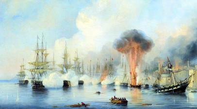 А.П. Боголюбов. Синопский бой 18 ноября 1853 года