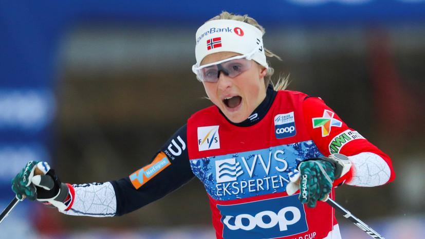 Йохауг победила в индивидуальной гонке на этапе КМ в Норвегии Белорукова — 14-я
