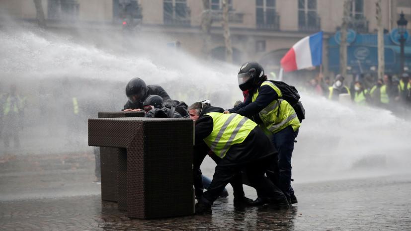 Число пострадавших в ходе протестов в Париже увеличилось до 20