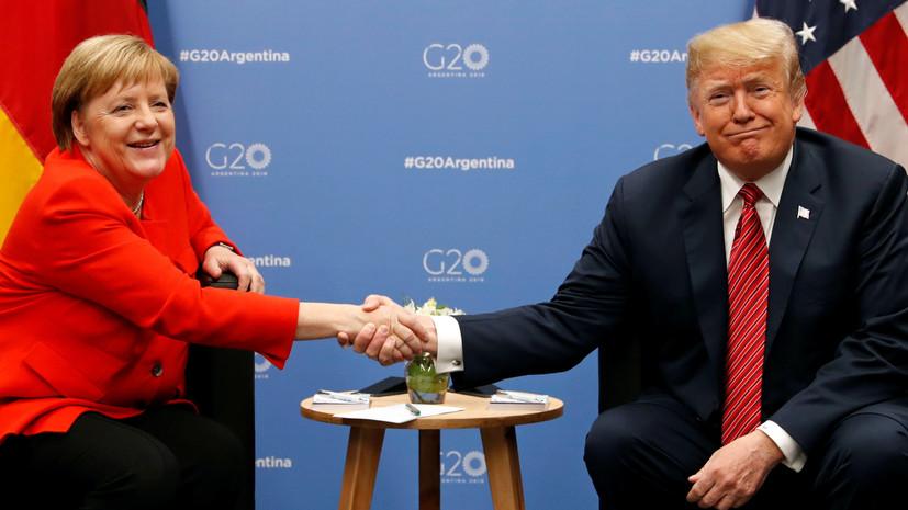 Меркель обсудила с Трампом инцидент в Керченском проливе и ДРСМД