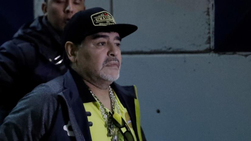 Марадона попытался ударить фаната после матча в Мексике